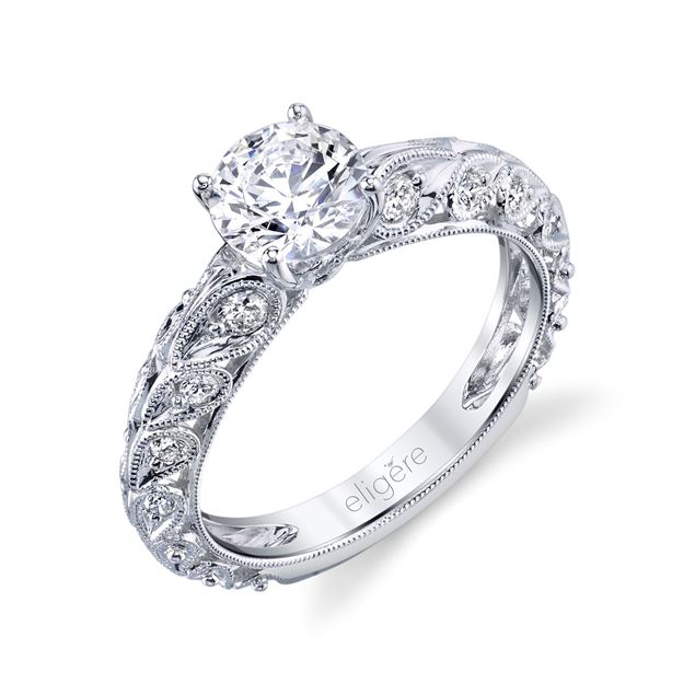 Paisley Elegance Engagement Ring