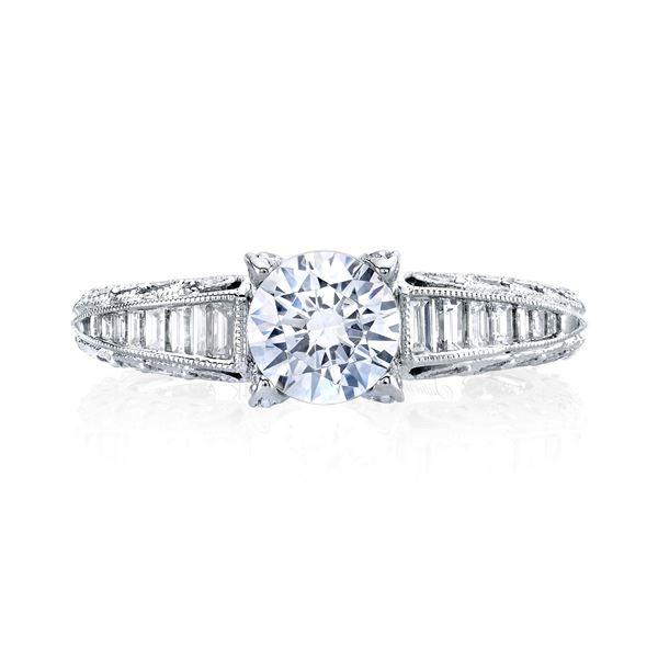 Paisley Baguette Engagement Ring